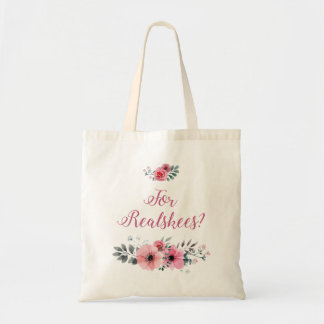 """Para Realskees?"" O bolsa floral"