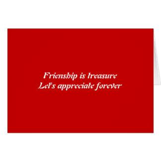 Para sempre amizade cartão comemorativo