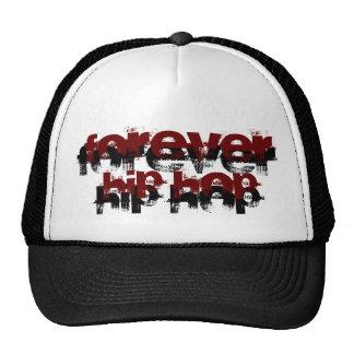 Para sempre chapéu preto e branco de Hip Hop Boné