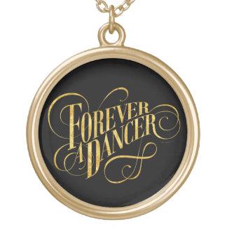 Para sempre um dançarino colar banhado a ouro