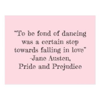 Para ser afeiçoado do cartão da dança