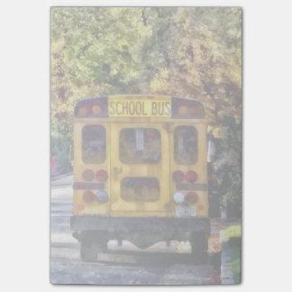 Para trás do auto escolar post-it notes