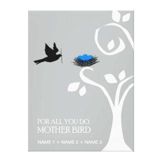 Para tudo você faz grandes canvas de MotherBird Impressão De Canvas Envolvida