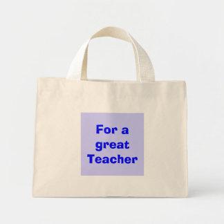 Para um grande professor bolsas de lona