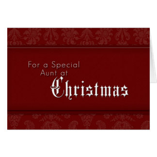 Para uma tia especial no Natal Cartão