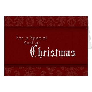 Para uma tia especial no Natal Cartão Comemorativo