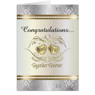 Parabéns ao Sr. e à Sra. cartão de casamento