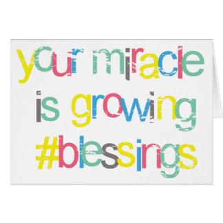 Parabéns brilhantes você é milagre grávido cartão comemorativo