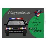 Parabéns, cartão do agente da polícia