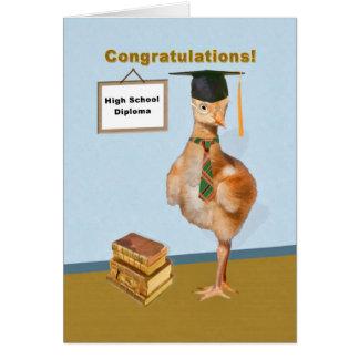 Parabéns, conclusão do ensino secundário cartão comemorativo