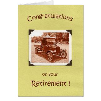 Parabéns da aposentadoria cartão comemorativo