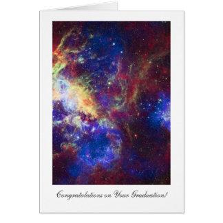 Parabéns da graduação, estrelas da nebulosa do cartão