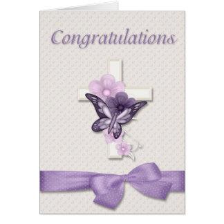 Parabéns do batismo cartão de nota