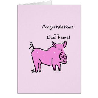 Parabéns do cartão de cumprimento na casa nova