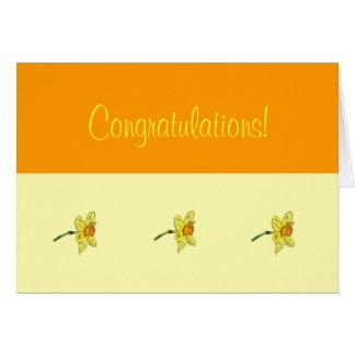 Parabéns do Daffodil (narciso) Cartões