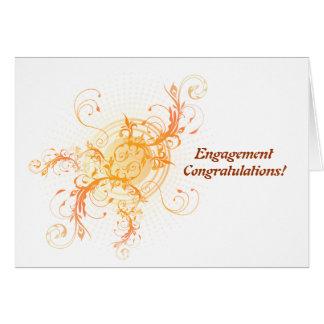 Parabéns do noivado de Handfasting pagãos Cartão Comemorativo