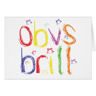 Parabéns do parracho de Obvs (obviamente Cartão Comemorativo