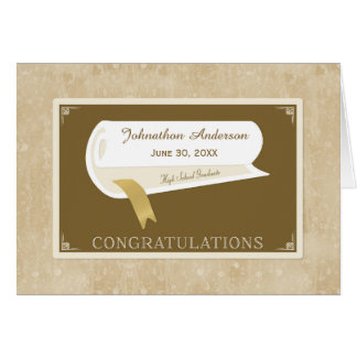 Parabéns elegantes da conclusão do ensino cartão comemorativo
