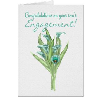 Parabéns em lírios do noivado do seu filho cartão comemorativo