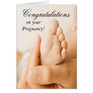 Parabéns em seu cartão da gravidez