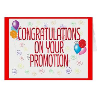 Parabéns em seu cartão da promoção