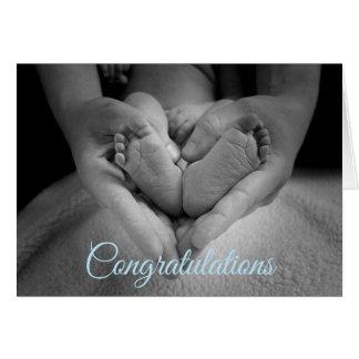 Parabéns em seu cartão do bebé