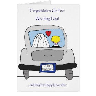 Parabéns em seu cartão do dia do casamento
