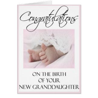 Parabéns em seu cartão novo da neta