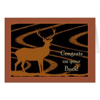 Parabéns em seu fanfarrão, cartão dos cervos