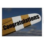 Parabéns em seu primeiro piloto do vôo de solo cartao