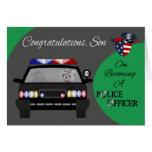 Parabéns, filho, cartão do agente da polícia