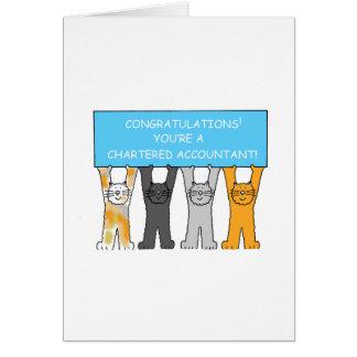 Parabéns fretados da graduação do contador! cartão comemorativo