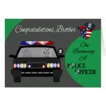 Parabéns, irmão, agente da polícia cartão