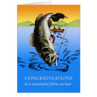 Parabéns na aposentadoria para o sogro cartão comemorativo