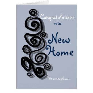 Parabéns na casa nova nós somos tão pleased. cartão comemorativo