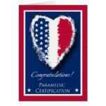 Parabéns na certificação do paramédico cartoes