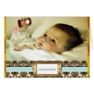 Parabéns no cartão novo da gravidez do bebê