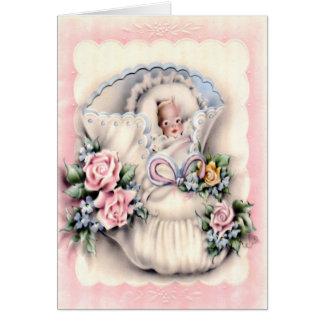 Parabéns no cartão novo do bebê