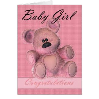 Parabéns novos do bebé cartão comemorativo