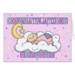 Parabéns novos do bebé da avó cartões