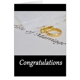 Parabéns que Wedding Cartão Comemorativo