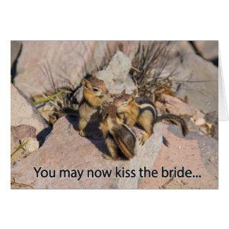 Parabéns que Wedding o cartão do Chipmunk