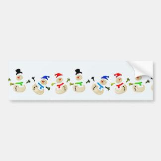 Parada colorida do Natal do boneco de neve Adesivos