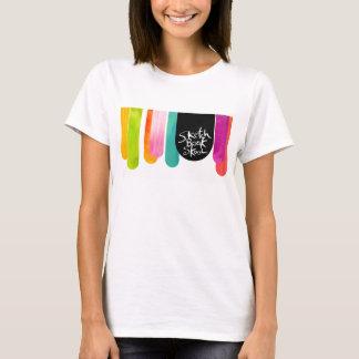 Parada da gota de Skool do bloco de desenho Camiseta