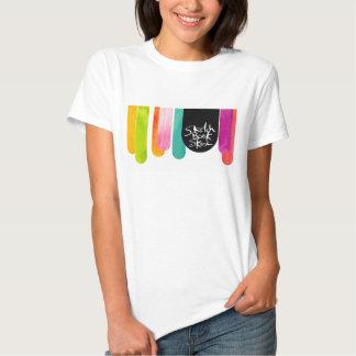 Parada da gota de Skool do bloco de desenho T-shirts