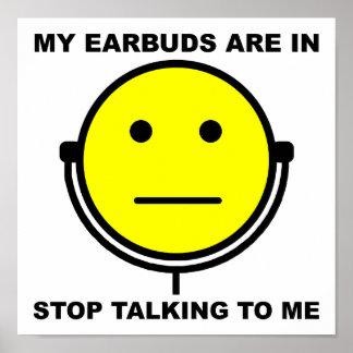 Parada de Earbuds que fala a mim o poster