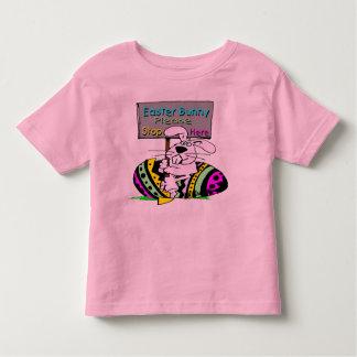 Parada do coelhinho da Páscoa aqui Camiseta