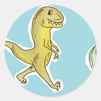 Parada do dinossauro adesivos em formato redondos
