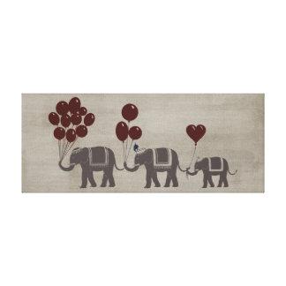 Parada do elefante impressão de canvas envolvidas