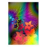 Parada floral fabulosa do arco-íris de Fractural Modelos Cartões De Visitas